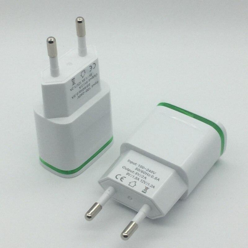 100 sztuk ue 5V2A wtyczki. Światło LED USB ładowarka