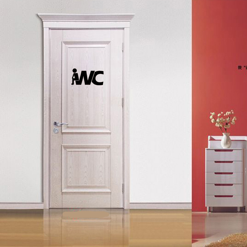 bathroom door decal promotion-shop for promotional bathroom door