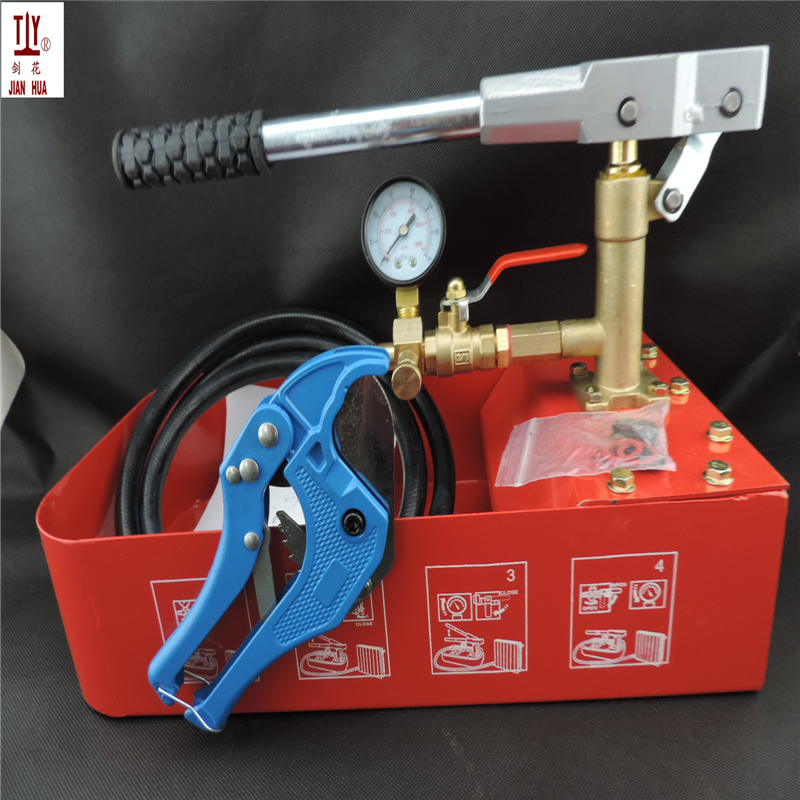 Hydraulic Test Pump with Tank and 42mm cutter Hand movement 7.0Mpa vacuum water pump for Water pressure test pipe leak hunting free shipping hand tool manual 4 mpa 40kg pressure test pump water pressure testing hydraulic pump 42mm pipe cutter free for you