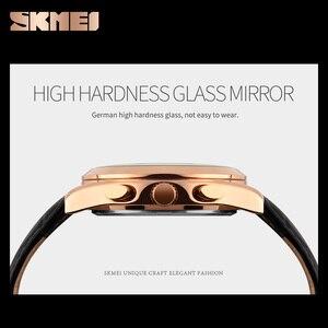 Image 4 - SKMEI marque de luxe hommes mode Sport décontracté montres hommes étanche en cuir Quartz montre homme militaire horloge Relogio Masculino
