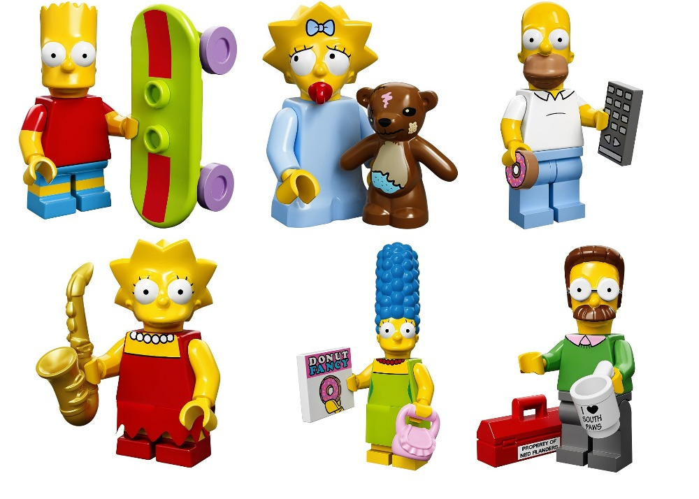 *Simpsons Minifigs set* DIY enlighten block bricks,Compatible With Particles free shipping the tian an men diy enlighten block bricks compatible with other assembles particles