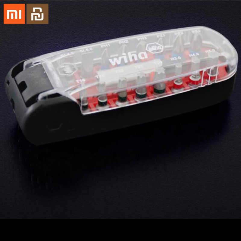 Xiaomi Mijia Wiha ไขควงชุด 17 in 1 โพสต์แม่เหล็กวินาทีเปลี่ยนผ้าคลุมไหล่ wiha ชุดหัวซ่อนไขควงซ่อมเครื่องมือบ้าน