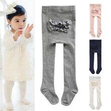 Хлопковые Штаны для маленьких девочек; Штаны для младенцев; колготки для маленьких девочек; длинные брюки; красивые однотонные Удобные леггинсы для малышей