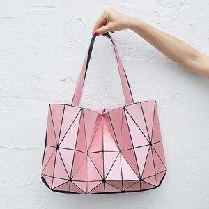 Image 5 - Moda pembe sac bayan çantası elmas Tote geometrik kapitone omuz çantaları kadın çanta kadınlar için 2020 bolsa feminina ana kesesi