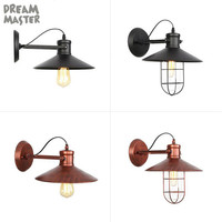 Industrial Loft Style Edison Wall Sconce Adjust Swing Arm Vintage Wall Lamp Iron Wall Light Fixtures For Indoor Lighting