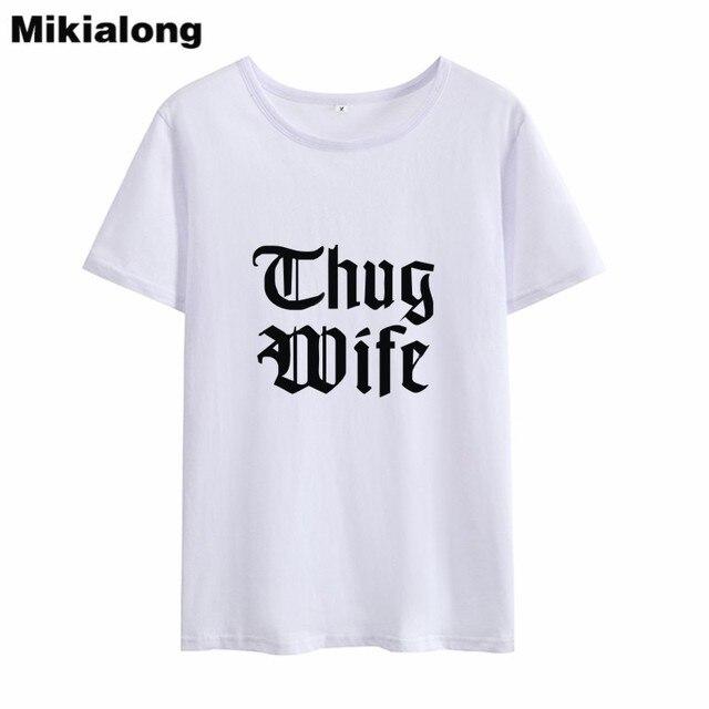 459daf26a Mrs win Vintage WIFE Printed Tshirt Women Top Ulzzang Korean Style Black  White T Shirt Women 100% Cotton Women Summer T-shirt