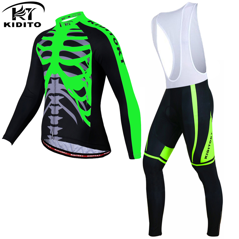 KIDITOKT Winter Thermal Fleece Cycling Jersey Set Racing Bike Clothes Ropa Ciclismo Invierno MTB Bicycle Clothing Cycling Set fualrny winter thermal fleece cycling jersey 2018 pro team ropa ciclismo hombre invierno men cycling clothing mtb bike clothes