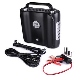 Image 1 - Bomba de compresor de aire de coche eléctrico con pantalla Digital de 12 V, bomba inflable Digital con luz LED, inflador de aire Digital de doble cilindro para coche