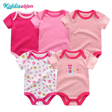 Unisex Tops Quality Baby Rompers 5Pcs/lot Cotton 3 6 9 12Mon