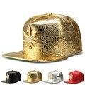 Nueva versión Coreana del sombrero de ala plana de aleación de diamante cannabina marea gorra de béisbol hiphop hip-hop hip-hop sombrero al por mayor