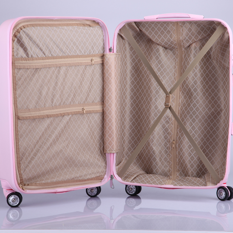 Wholesale!28 inches large capacity abs hardside case trolley travel luggage on universal wheels for female,lovely blue luggage