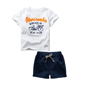Image 2 - GODODOMAOYI 2019 sıcak satış marka erkek giyim çocuk yaz erkek giysileri karikatür çocuk Boy giyim seti t shirt + pantolon pamuk