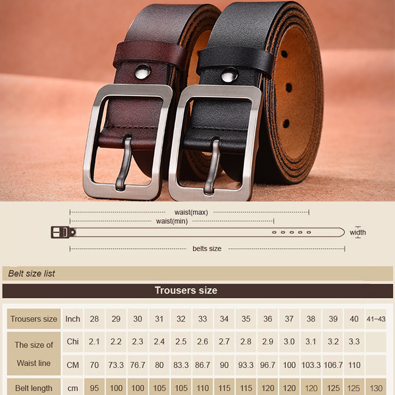 9c7b7d85f77  DWTS Men s belt leather belt men male genuine leather strap luxury pin  buckle ...