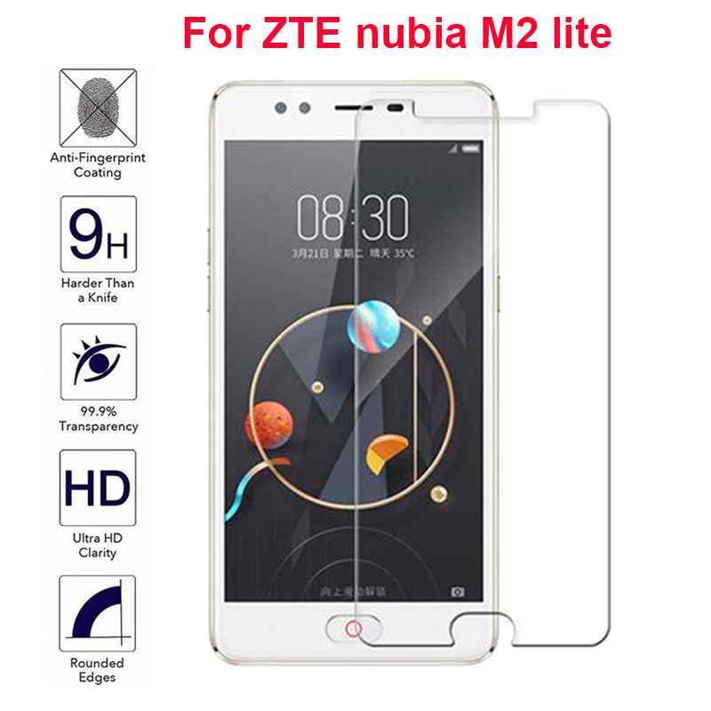 Not Full Coverage Tempered Glass Film For ZTE Nubia M2 Lite (5.5 inch) IMAK Screen protector For Nubia M2 Lite NX573J Glass Film(China)