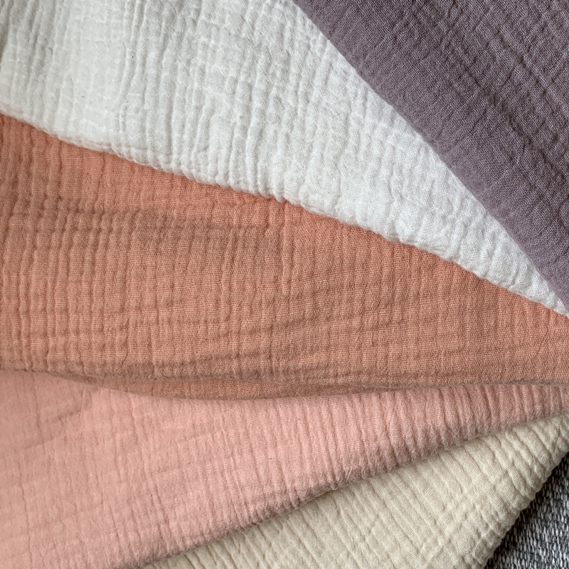 Natural 100 Cotton double Gauze Voile Fabric 135 cm 53 39 39 width 120 gsm baby blanket fabric sewing fabric 1000 meters CD01 in Fabric from Home amp Garden