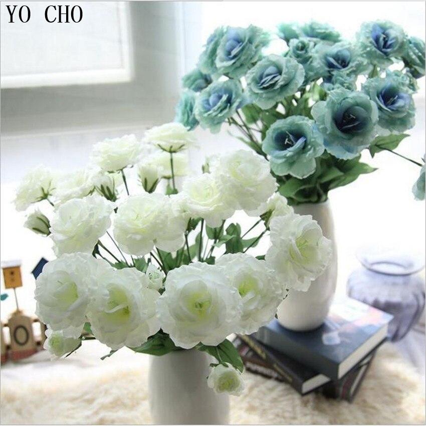 YO CHO 10 pièces Fleurs Artificielles En Soie Rose Orchidée Papillon Orchidée pour Maison Mariage Fête Décoration D'automne Hôtel de Fête