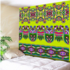 Green Colorful Floral Print Bohemia Tapestry Indian Tribe Decorative Mandala Tapestry 130cmx150cm 150cmx200cm Boho Wall Carpet