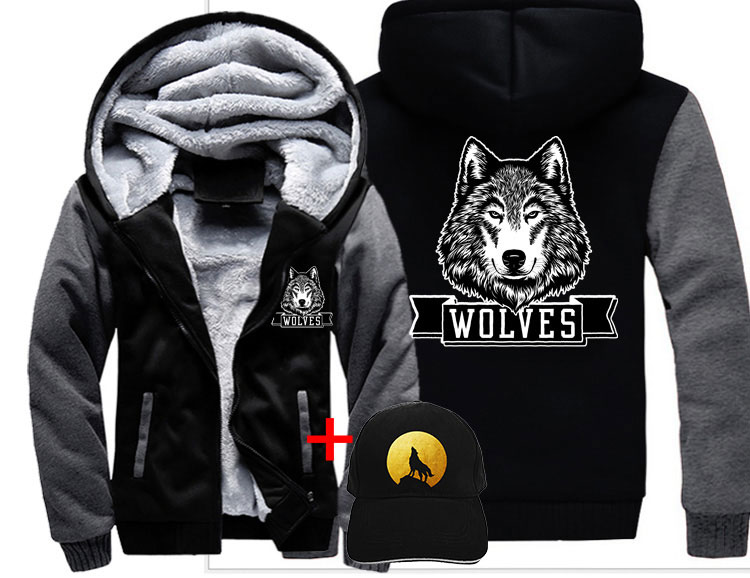 Aggressive New Fashion Womens Punk Style Hoodies Big Hat Moon Letter Print Zip-up Ladies Sweatshirts Casual Female Tops Plus Size Women's Clothing