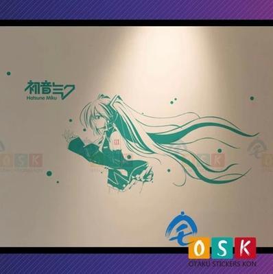 Car Sticker Japanese Cartoon Fans Hatsune Miku Vinyl Wall Stickers Decal Decor Home Decoration 001 dsu details about happy girls wall sticker vinyl decal home room decor quote