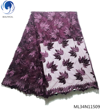 BEAUTIFICAL Special offer tulle lace fabric african for dress high quality fabrics ML34N115