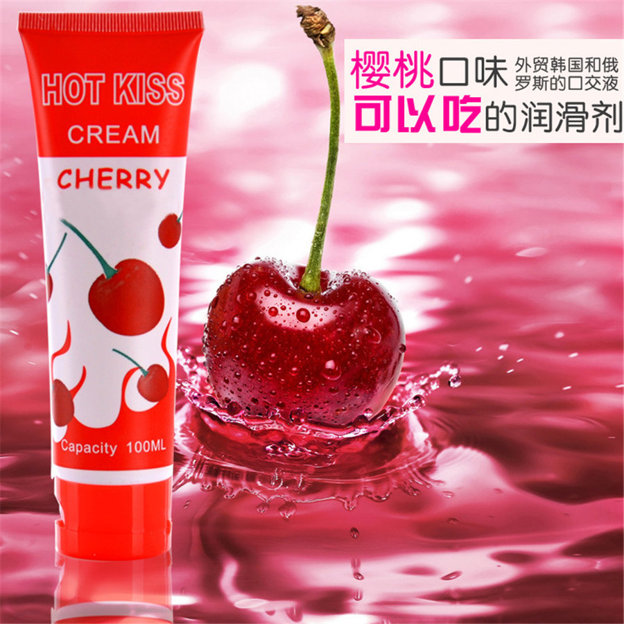 HOTKISS 100ML cherry fruit edible human adult sex supplies lubricants oral sex oil Free Shipping