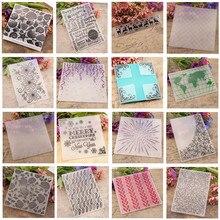 Новая пластиковая папка с тиснением для скрапбукинга изготовление бумажных карточек прозрачные штампы DIY Фотоальбом подарочная коробка украшение аксессуаров