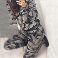 40 9090 Autumn Winter Casual Women Tracksuits Uniform Women's Set Two Piece Cotton O-neck Sportwear Long Sleeve Camouflage Suit