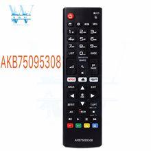 AWO yeni evrensel uzaktan kumanda AKB75095308 LG TV için 43UJ6309 49UJ6309 60UJ6309 65UJ6309 akıllı uzaktan kumanda