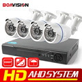 Boavision 4ch 1080 p 2000tvl hd ahd dvr kit sistema de segurança ao ar livre câmera da Bala HDMI 4 Canais Kit DVR CCTV AHD Camera Set