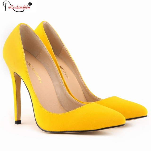 Sexy Women Flock Leather Shoes Ladies Wedding Evening High Heels Pointed Toe Pumps Work Court Party Shoes SMYNLK-BA0066