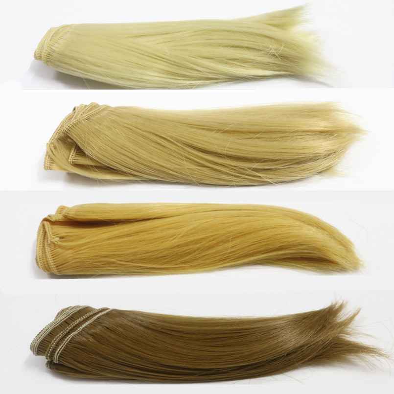 15CM High Temperature Heat Resistant Doll Hair for 1/3 1/4 1/6 BJD Diy Doll Natural Wave Thick Doll Wigs for Dolls 10 Piece/Lot 1pcs 15cm length natrual color thick 1 3 1 4 1 6 bjd curly wigs wave doll hair