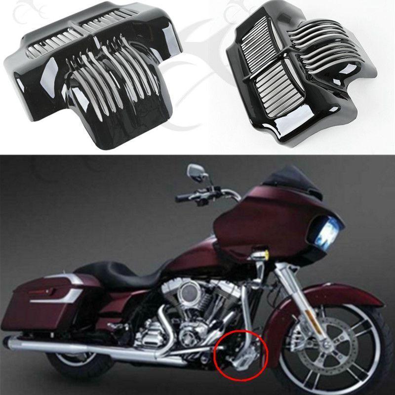 Chrome 4 Point Docking Hardware Kit Detachable For Harley Road King FLH 14-16