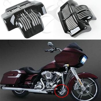 цена на Motorcycle Black Stock Oil Cooler Cover For Harley Touring Road King Electra Road Street Glide Trikes 2011-2016
