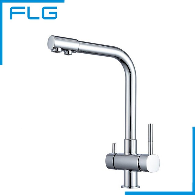 Free Shipping Chrome Finishing Bronze Drinking Water Faucet, Purify Water  Tap, 3 Way Kitchen