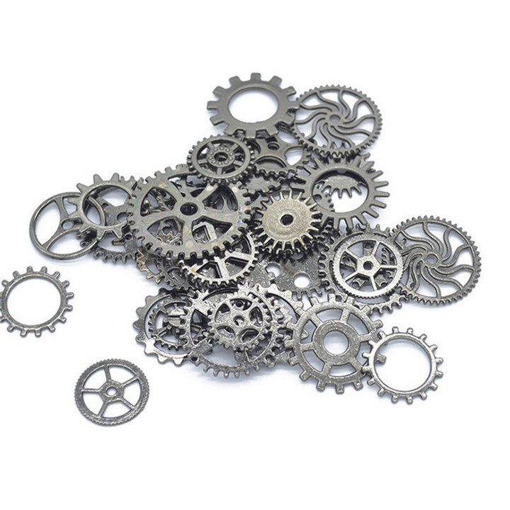 6  50glot Different Size Gears DIY Jewelry Accessories For Necklace Earring Pendant Bracelet Gold Silver Gear Diy Jewelry Making