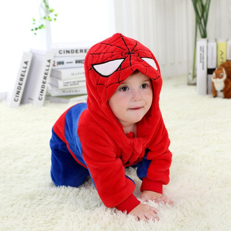 Spring and autumn baby boy clothes spiderman Captain America baby boy rompers Red Blue newborn clothes bodysuit one piece bebe (8)