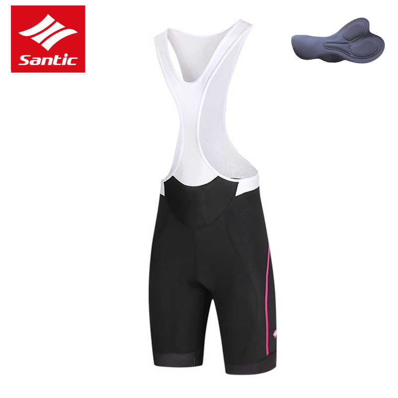 Santic Women Cycling Shorts Pro Team Mountain Road Bike Shorts Mesh Breathable 4D Padded Bicycle Shorts Clothes Bermuda Ciclismo цена
