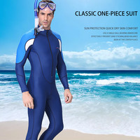 Fashion Men Diving Suit Full Dive Skin Jump Suit Men Snorkeling Surfing Scuba Diving One piece Full Body Wetsuit Swim Suit
