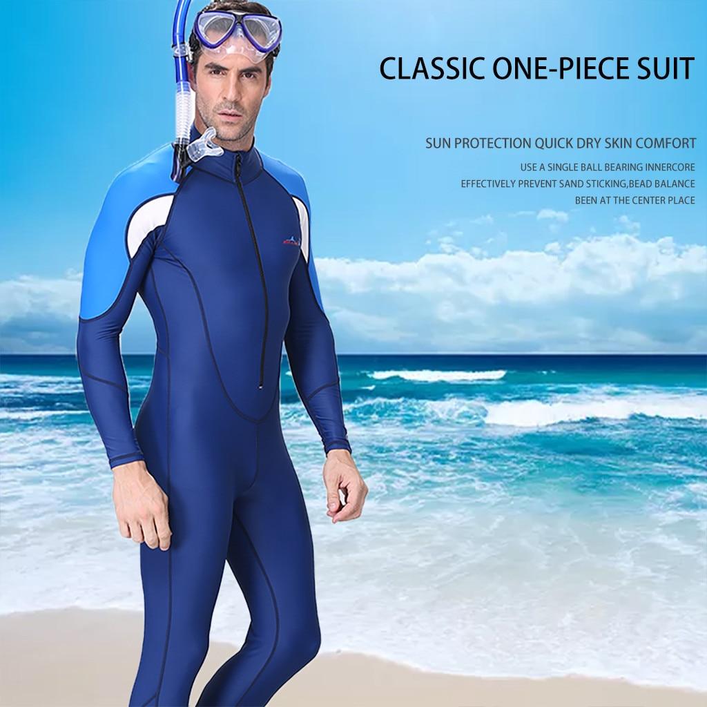 Fashion Wetsuit Men Diving Suit Full Dive Skin Jump Suit Men Snorkeling Surfing Scuba Diving One-piece Full Body SwimSuit