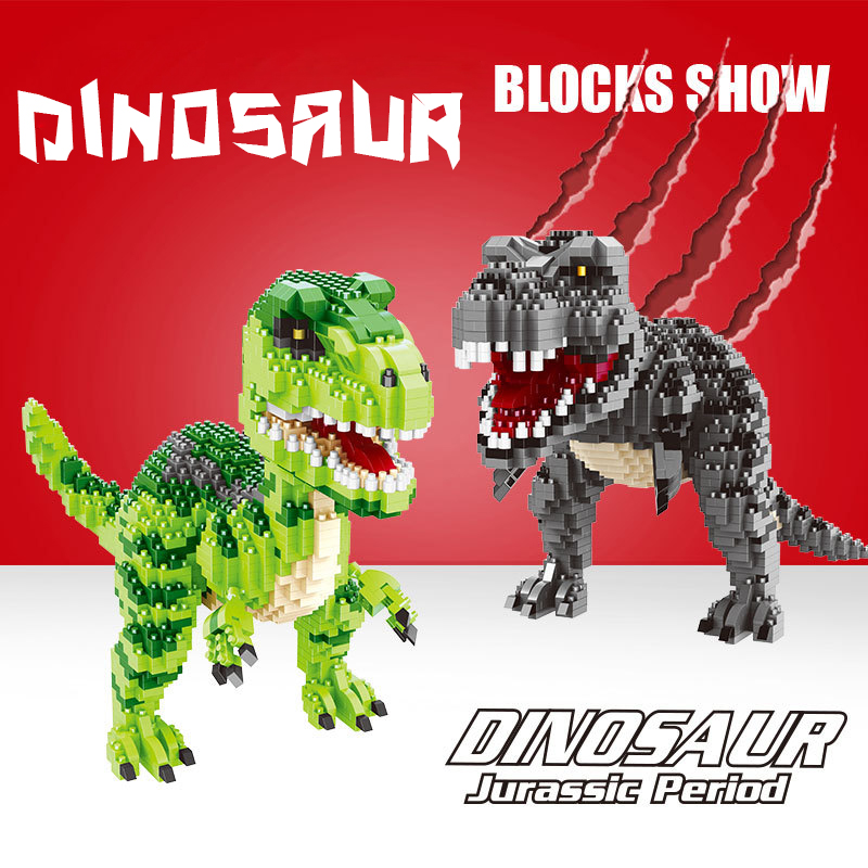 Jurassic World Park Dinosaur Mini Building Blocks Bricks Kids Toys Compatible Legoinglys Tyrannosaurus Rex Christmas Gift 5 pack jurassic building blocks park dinosaur toys jurassic world dinosaur toys 8pcs
