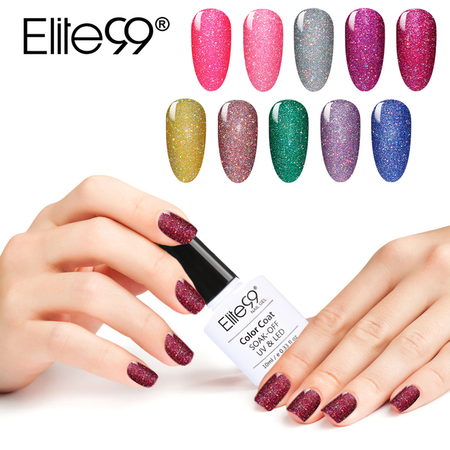 Elite99 10ml UV Gel Nail Polish Neon Color UV Lamp Soak off Gel Polish Bling Gel Lak 1PC Vernis Semi Permanent Gelpolish