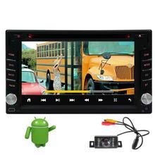 android6.0 car gps radio dvd player 2din radio car stereo audio gps navigation wifi camera steering wheel control 3g tv (option)
