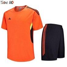 HOWE AO, футбольные майки, спортивный комплект, одежда для мужчин, футбольные Джерси, набор, Униформа, теннисные рубашки, шорты, спортивные костюмы, на заказ, с принтом