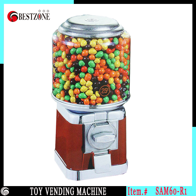 Kid toy candy vending machine for 25 40mm plastic capsule or bouncing ball