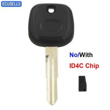 Carcasa de llave remota Transponder cubierta de llave con/No ID4C Chip para Daihatsu Charade Copen Cuore Feroza Materia Sirion Terios YRV