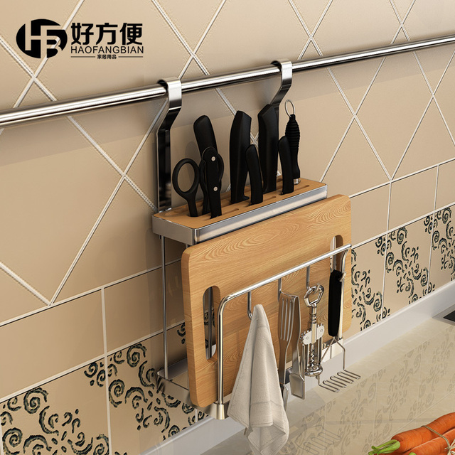 Good convenient kitchen knife racks hanging plate rack insert put turret tool storage rack cutting board & Good convenient kitchen knife racks hanging plate rack insert put ...