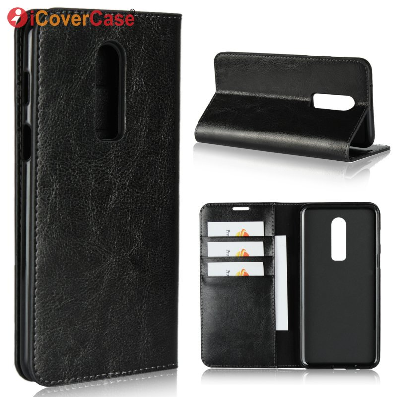 Genuine Leather Case For Oneplus 6 Luxury Business Wallet Cover For One plus 6 OnePlus6 Flip Mobile Phone Bag Etui Coque Hoesje
