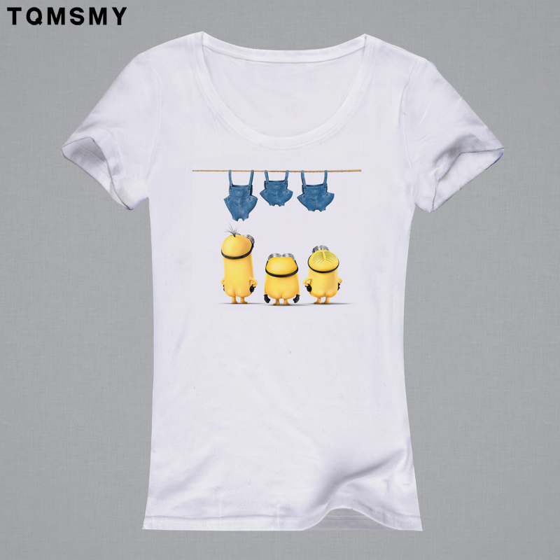 Harajuku casual t-shirt Women 3D printing clothing tee shirt cartoon tops soft quality Print  Short Sleeve Women T Shirt minions