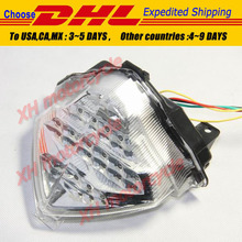 motorcycle parts LED Tail Brake Light turn signals for Yamaha YZF R1 YZFR1 YZF-R1 2004-2006 Clear