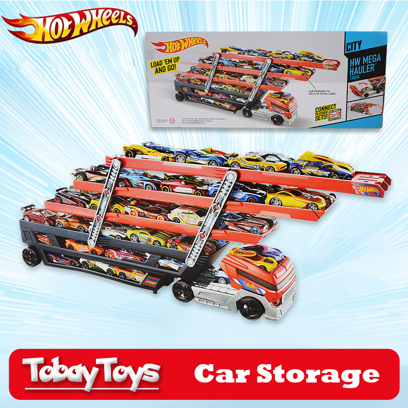 Hotwheels Truck Toy Storage Box Car Container Scalable Parking Floor Hot  Wheels Transport Truck Toys Christmasu0027s Day Gift CKC09 In Diecasts U0026 Toy  Vehicles ...